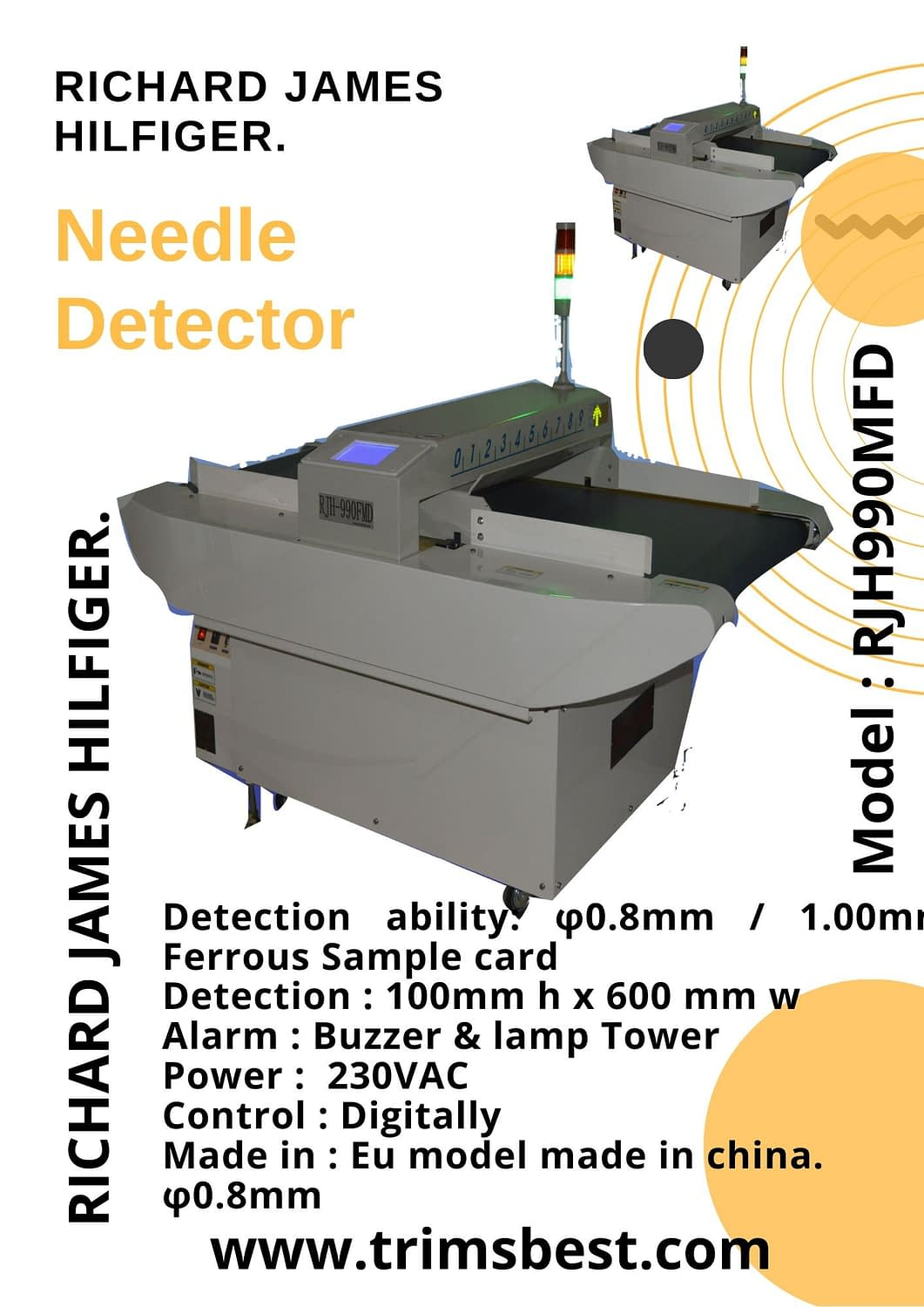 Needle Detector Trims Best Ltd